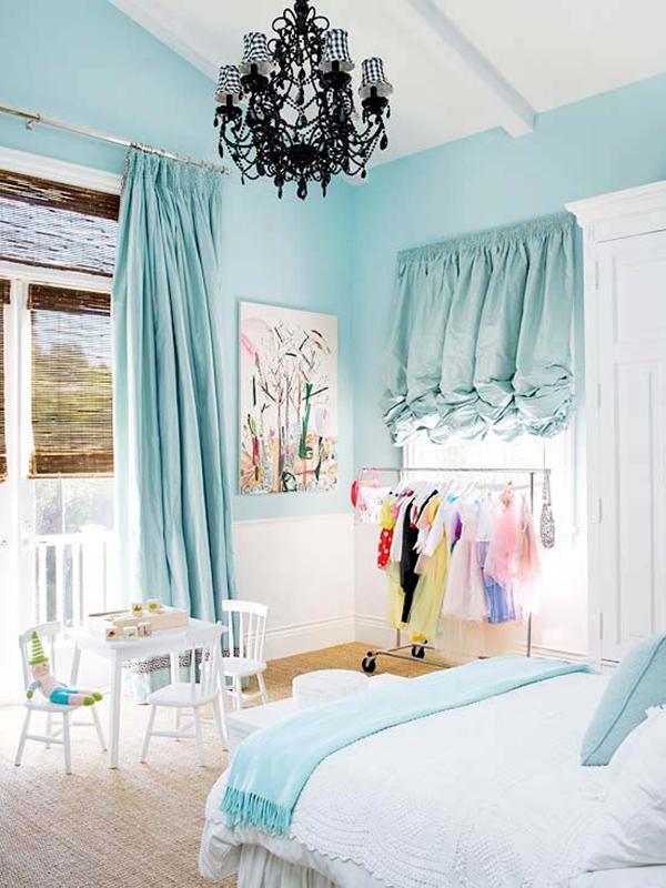 Màu xanh da trời cho căn phòng của bé hoặc cho những người trẻ trung