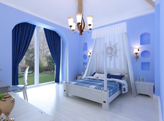 Kết quả hình ảnh cho sơn nhà màu xanh nước biển
